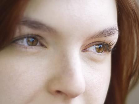 schön geschminkte Augen